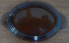 "Oval Pyrex P-14-C Lid Cover Grab-it Amber Colored 5.5"" x 8.5"" Glass Vintage"