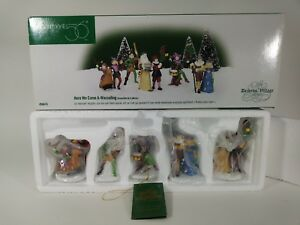 Department 56 Accessory HERE WE COME A-WASSAILING Porcelain Dicken Village 58410