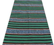 Tapis indien Fait main Ethnique Coton léger Très fort Inde Vert