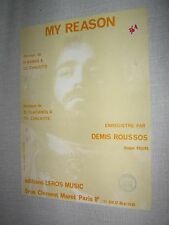 PARTITION MUSICALE FRANCE DEMIS ROUSSOS MY REASON