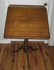 Vtg Cast Iron Wash Burn Shops Adjustable Drafting Table Industrial Original Rare