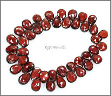 10 Red Garnet Flat Briolette Beads ap.7-8mm A #67018