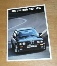 BMW 3 Series E30 Brochure 1990-1991 - 316i 318i 318is 320i 325i Sport SE Lux