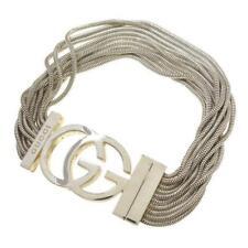 "Rare Gucci GG Logo Rope Chain Multi-Strand Bracelet Bangle 7"""