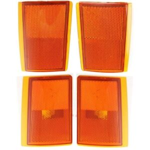 NEW 4 PIECE SET OF SIGNAL MARKER LIGHTS FOR 1988-1993 CHEVROLET C1500