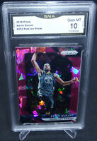 2018-19 Panini Prizm Kevin Durant Pink Ice Prizm Card GMA Graded Gem Mint 10