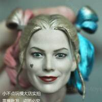 Custom Harley Quinn Joker 1/6 Head Sculpt for Hot Toys Suicide Squad