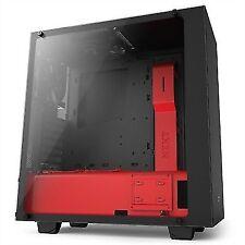 Caja Semitorre ATX Nzxt S340 elite Ca-s340w-b4 negro rojo