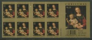 US SCOTT #4206 PANE OF 20 CHRISTMAS STAMPS MADONNA OF THE CARNATION 41 CENT  MNH