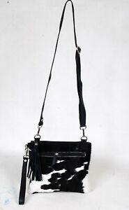 Real Cowhide Cross body Purse Handbag & Shoulder Bag Clutch Cow Leather SB-6962