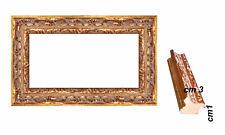 Cornice in Oro in legno per stampe,foto,poster, quadri  Spessore frontale. cm 3