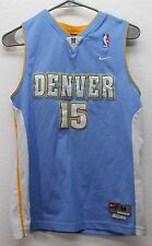 8eaa4ba81 Nike Denver Nuggets Carmelo Anthony  15 Sewn Jersey Girls Youth Medium  Length +2
