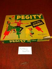 1953 Vintage Pegity and other Games Parker Brothers