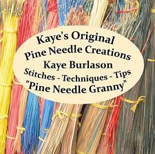 Kaye's Original Pine Needle Creations, How to book in a PDF format on CD for PC