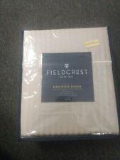Fieldcrest Satin-Stitch Damask Sheet Set 500 Thread Count - Sea Salt - Full Size