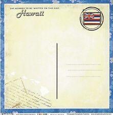 Sc - Hawaii Postcard Scrapbooking Paper - 1 sheet - Vintage 36179