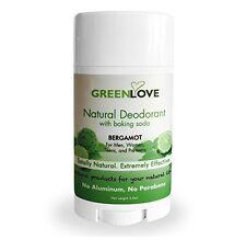 Natural Deodorant with Baking Soda 3.25oz Bergamot for Men or Women, Teens