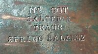 Vintage 1947 Brass Dial Salter 20T 200lb Scales Trade Spring Balance Industrial