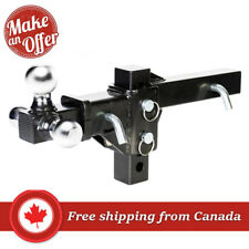 Husky Towing 30001 Adjustable Tri-Ball Trailer Hitch Ball Mount