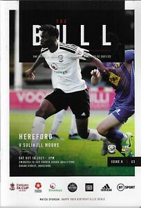 21/22  HEREFORD FC  v  SOLIHULL MOORS  ( FA Cup 4th Round Qualifying)