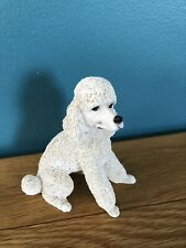 Beautiful Vintage White Poodle Ornament Collectable Dog Beautiful Figurine