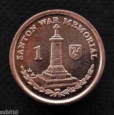 Isle Of Man 2007 1 Penny coin. Santon War Memorial. UNC