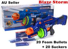 BLUE Nerf Style Gun Blaze Storm Kids Toy Soft Dart Machine Bullet Battle Battery