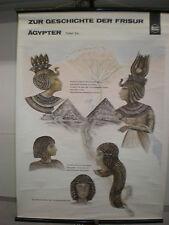 Schulwandbild Wandbild Geschichte der Frisur Ägyper Ägypen Friseur Wella 70x97cm