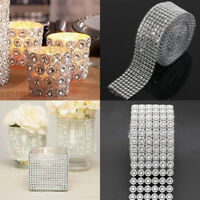 1Yard Silver Bling Sparkling Simulation Diamond Wedding Craft Trim Ribbon Decor
