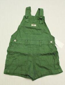 Osh Kosh B'Gosh Girl's Denim Overalls NB7 Green Size 7 NWT