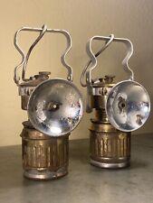 Copper Queen Mine Bisbee Arizona Carbide Miner Lamp Pair Guy's Dropper 1925