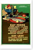 WWI World War I Eat More Corn Oats And Rye Retro Home Front Poster