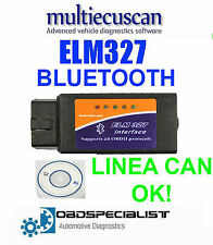 BT 327 PRESA DIAGNOSI FIAT MULTIECUSCAN MODIFICATO CAN ELM OBD2 V1.4 BLUETOOTH