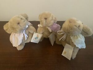 Eden toys vintage Flopsy Mopsy and Cottontail Beatrix Potter plush lot With Tags