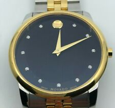 Movado 0606879 Museum Diamond Men's Watch - Silver / Gold
