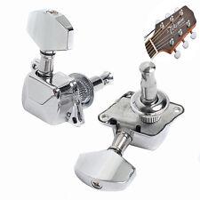 6 Pcs/set 3r3l Electric Guitar Semienclosed Tuning Pegs Tuner Machine Heads