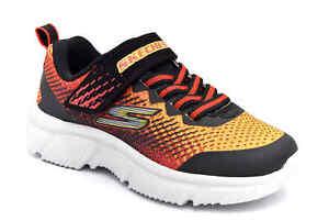 SKECHERS 405035L BKRD Scarpe Ginnastica Strappi Lacci Sneaker Scuola Bambino