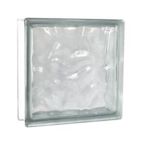 2 Stück Fuchs Glasbausteine Glassteine Bauglas Wolke Klar 30x30x10cm