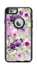 Skin Decal Wrap for Iphone 6 6S Otterbox Defender Case Pink Flowers Butterfly