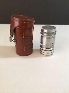 Vintage Argus Tele-Sandmar 100mm F4.5 lens with leather case