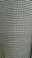 "Checked GINGHAM Jersey Stretch Uniform School Fabric 60"" Width Black/White"