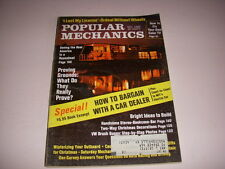 POPULAR MECHANICS Magazine, November, 1968, BUILD A BRUSH BUGGY, HOUSEBOATS!