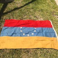 Vintage Venezuela Flag Cotton Canvas Stitched 6' x 4'