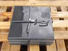 Black Natural slate Pier caps Pack of 4  300mm x 300mm x 30mm - Special Offer