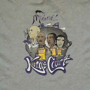 Vintage Sacramento Kings T Shirt Midevil Court Doug Christie Lakers Shaq Kobe