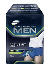 TENA MEN ACTIVE FIT PLUS Pantaloni-Large - 4 confezioni da 8 - 32 Pantaloni totale