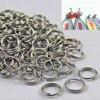 50/100 X anneaux fendus en acier inoxydable connecteurs de pêche leurres appâtsB