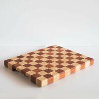 tagliere alla giorgione a scacchi in legno