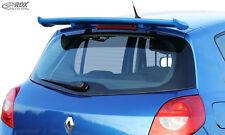 RDX TETTO SPOILER RENAULT CLIO 3 POSTERIORE SPOILER posteriore tetto Spoiler ala posteriore Wing