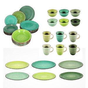 Geschirrserie Kombiservice Keramik Porzellan Servier Geschirr Kaffeegeschirr